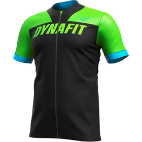 Dynafit Ride Full-Zip Kurzarmshirt Herren schwarz/grün